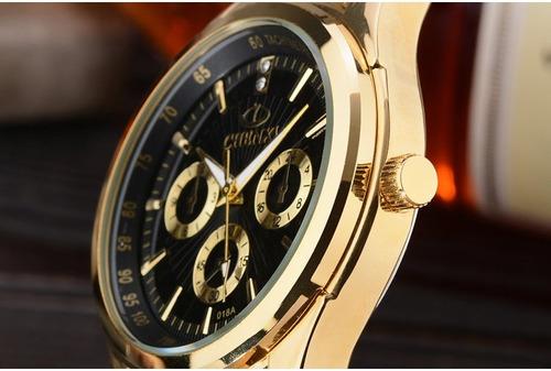 1124625cda5 Relógio De Luxo Chenxi Dourado Ouro Barato Quartzo + Brinde - R  129 ...
