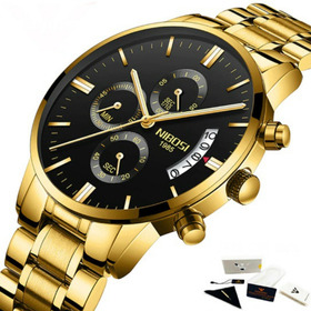 Relógio De Luxo Masculino Nibosi Original À Pronta Entrega