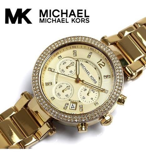 relógio de luxo michael kors mk5842 chronograph analógico