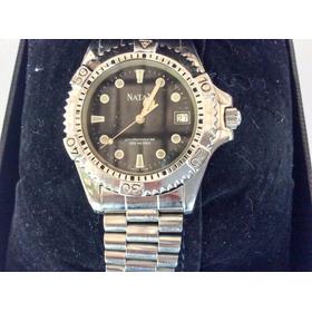 Relógio De Luxo Natan Profissional, Safira, 200 M. Testado