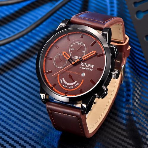 relógio de luxo xnew, original calendário, mecanismo japonês