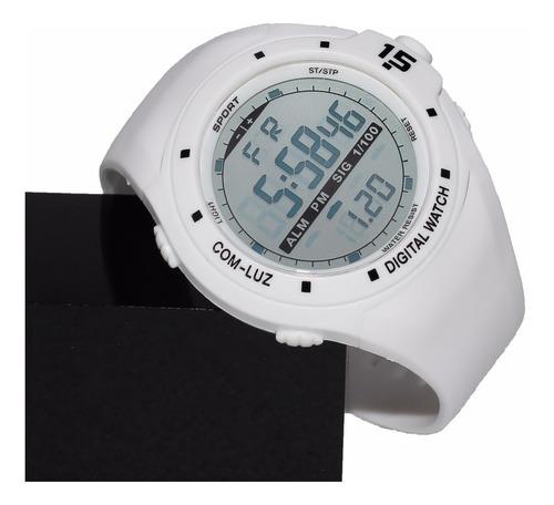 relógio de mergulho 50 m eletrônica digital led militar