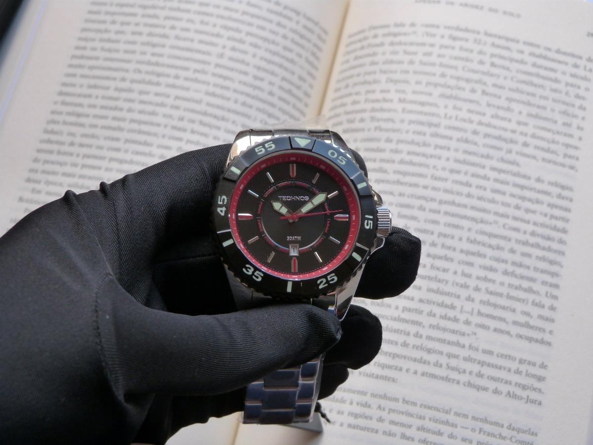 a4cc9728ef3 relógio de mergulho technos acqua 200 metros 2115kmb 1p. Carregando zoom.