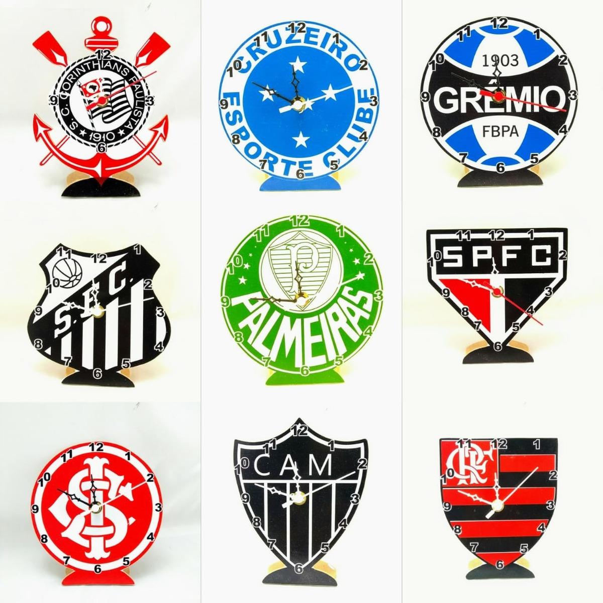 567b87124c0 Relógio De Mesa Analogico Times Brasileiros Valor P  Unidade - R  25 ...