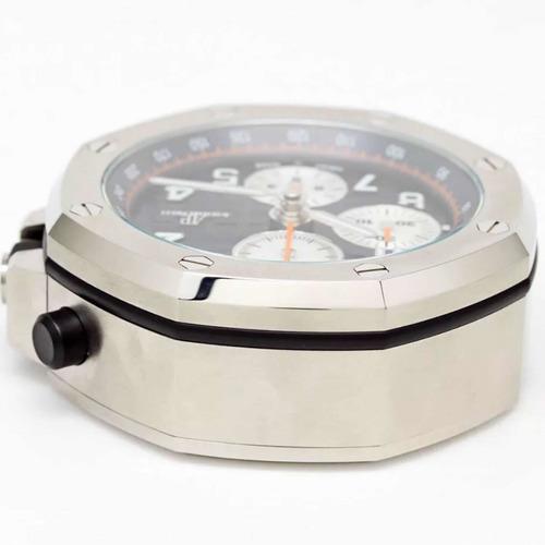 relógio de mesa audemars piguet royal oak offshore chrono table clock mostrador azul 65 mm swiss made original i raro