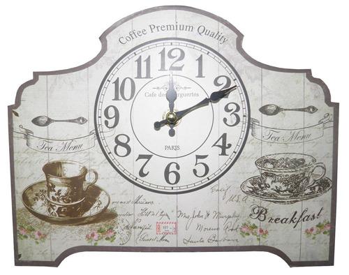 relogio de mesa cafe da manha retro decoracao vintage