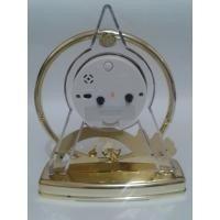 relógio de mesa despertador dourado