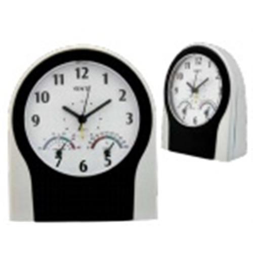 relogio de mesa despertador termo higrometro com termometro