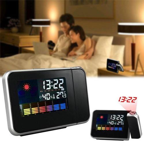 relógio de mesa digital lcd projetor led termômetro alarme!