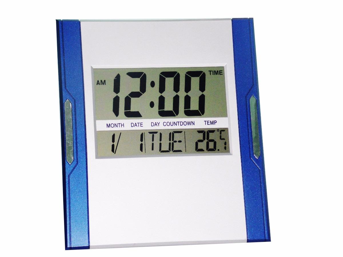 c8302fd3791 relógio de mesa ou parede digital c  termômetro alarme 38. Carregando zoom.