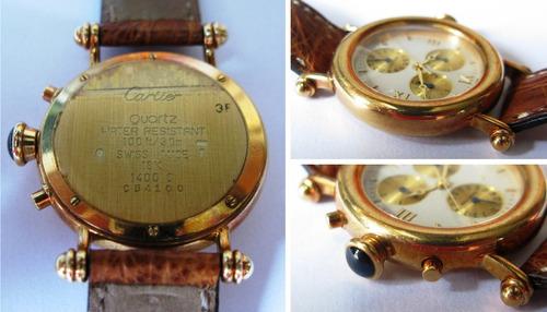 relógio de ouro 18 k cartier diabolo original certificado