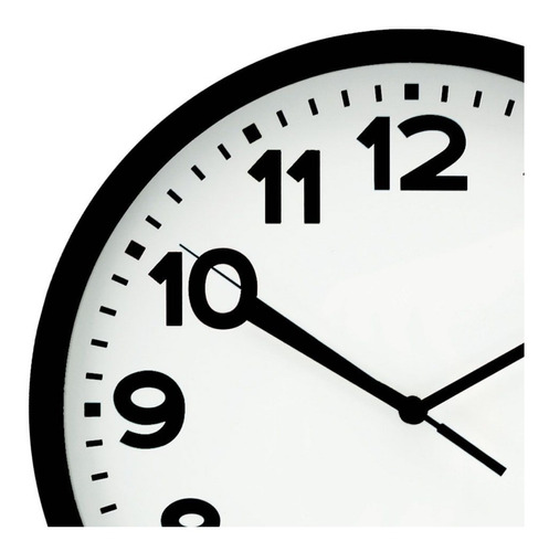 relógio de parede 30cm preto\prata - pilha aa
