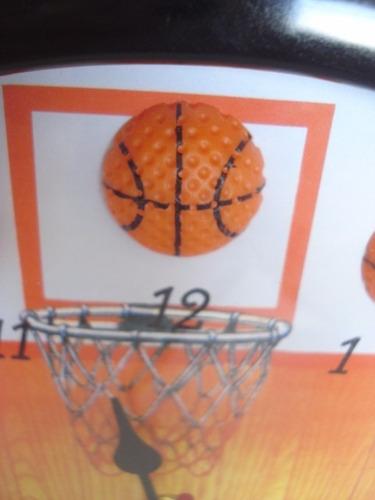 relógio de parede 3d jogo de basquete basketball bola