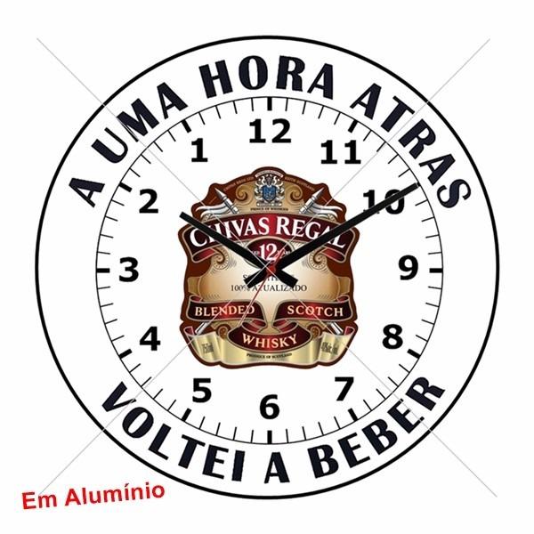 92bb90ff97b Relógio De Parede Anti Horário Produzido Em Alumínio - R  36