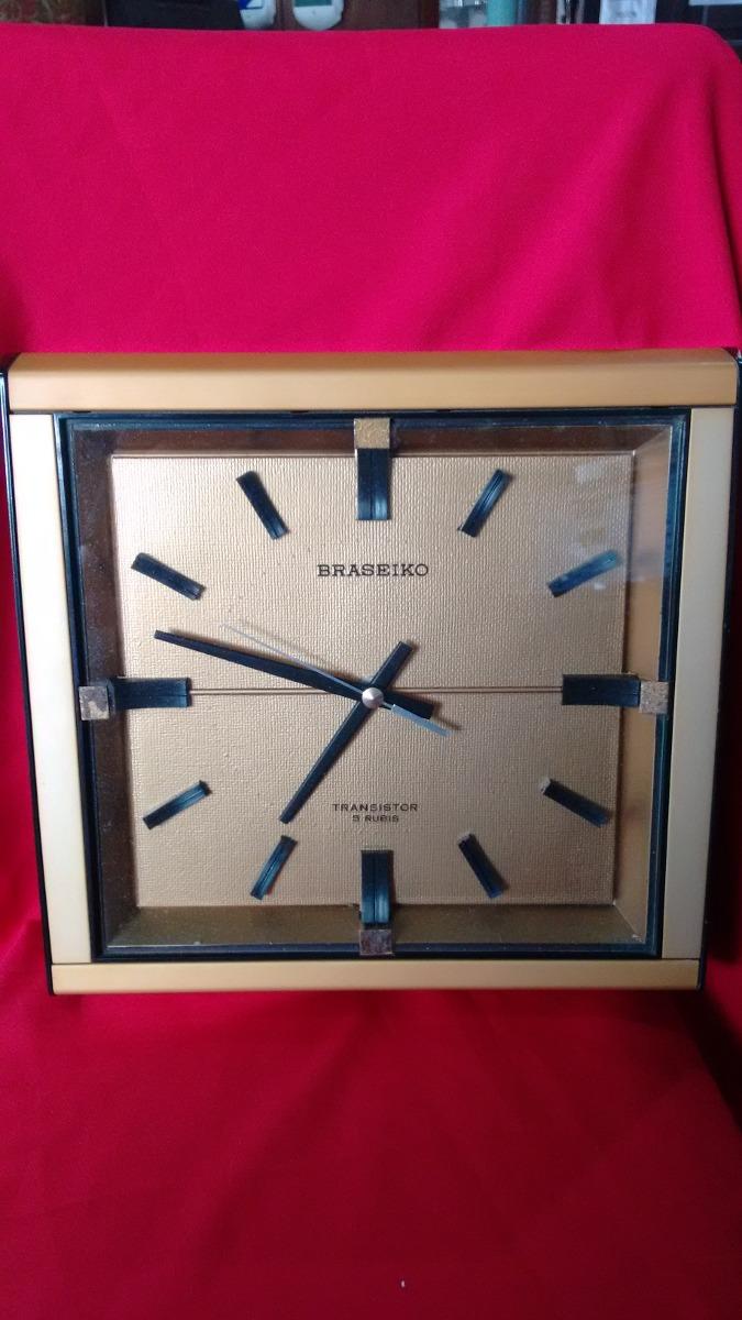 2595af8371b Relógio De Parede Antigo Braseiko 5 Rubis - R  80