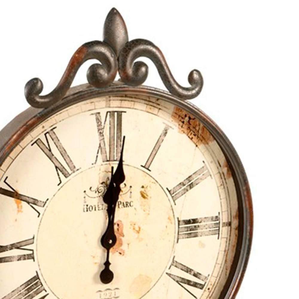 339af251baf relógio de parede antigo cinza envelhecido em metal. Carregando zoom.