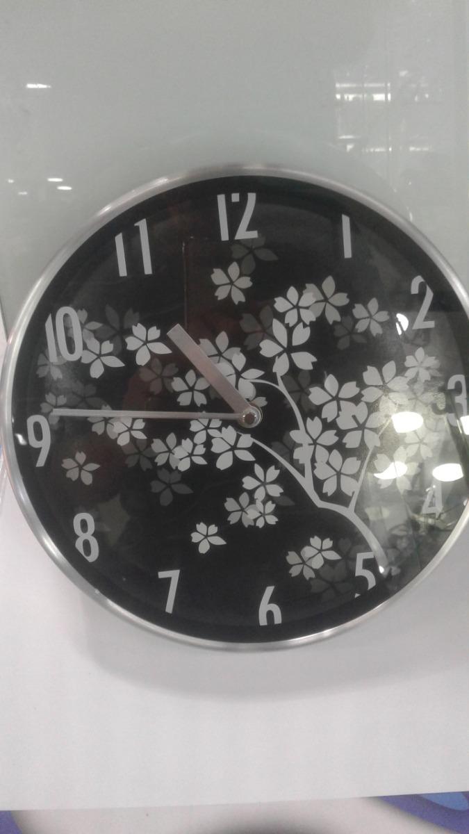 f07b90d6fd5 Relógio De Parede Aro De Alumínio Ponteiro Contínuo 25 Cm - R  29