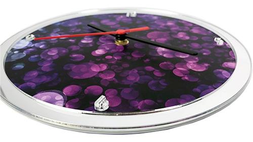 relógio de parede borda espelhada 22cm decorativo