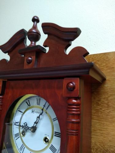 relógio de parede carrilhão a cordas som pêndulo herweg 5353