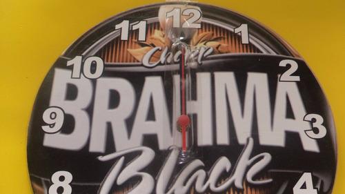relogio de parede cerveja brahma black na caixa