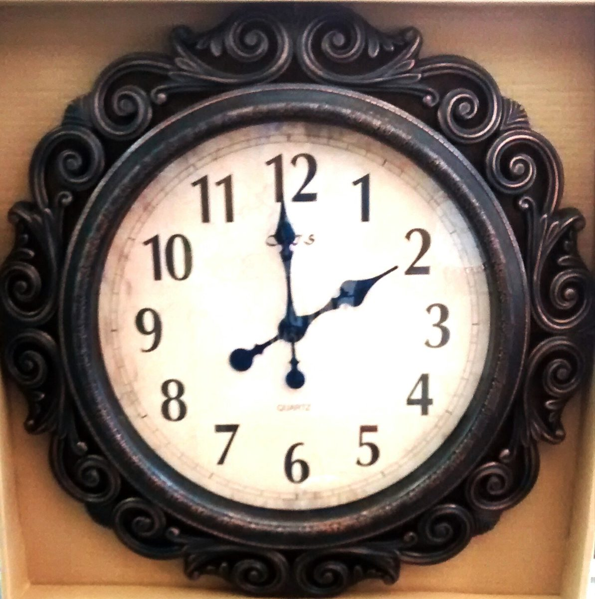 3dd62ecd8a5 relógio de parede classico gigante decoração 59cm diâmetro. Carregando zoom.