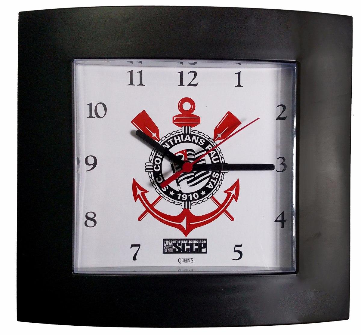 Relógio De Parede Corinthians (licenciado) Analógico Mod.r08 - R  35 ... 1b985ce5584ef