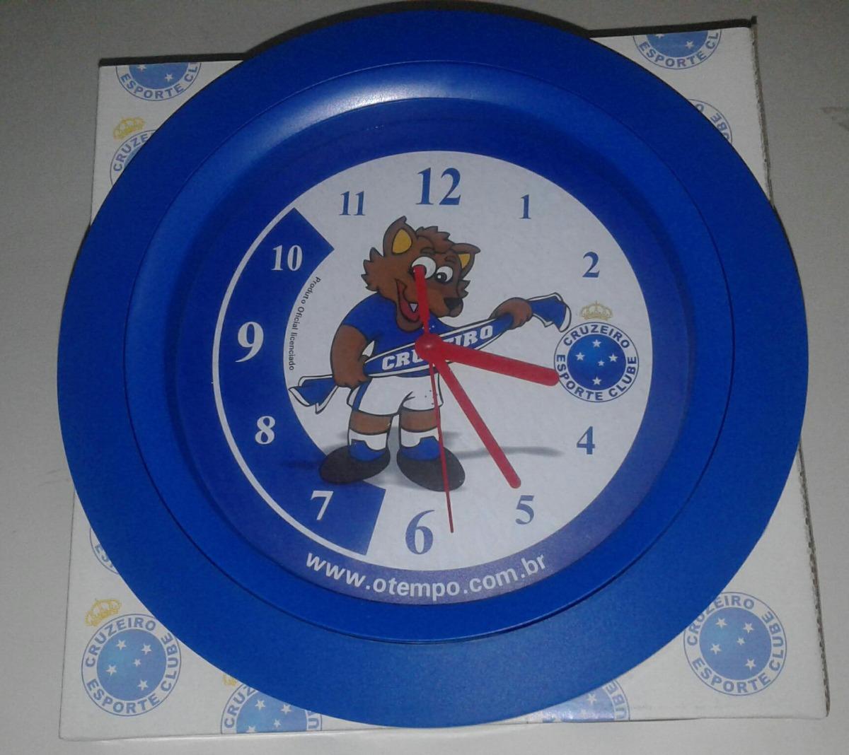 c5512145b22 Relógio De Parede Cruzeiro Esporte Clube Raposa - R  23