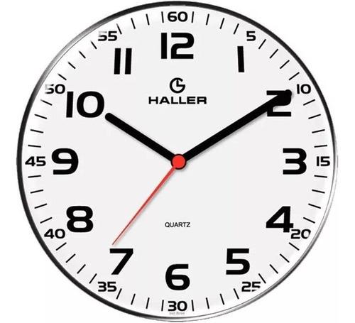 relógio de parede decorativo branco cozinha sala haller