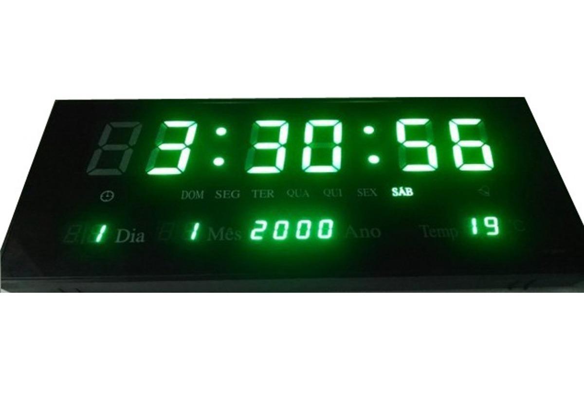 888d7c713fe relógio de parede digital led digital alarme - verde 36cm. Carregando zoom.
