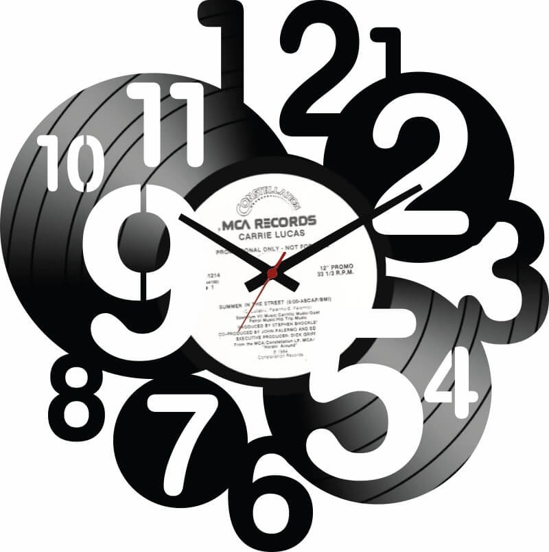 2da83b3e2dd Relogio De Parede Disco Vinil Numeros - R  59