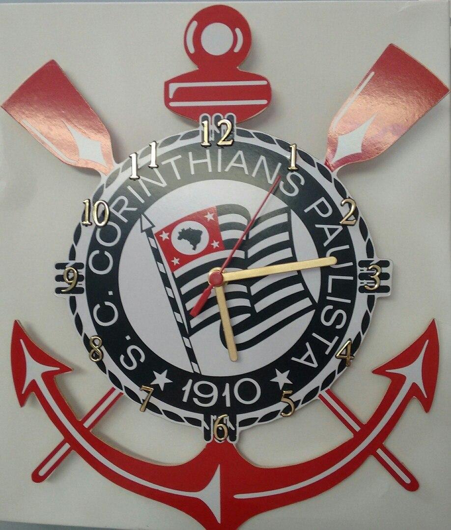 c8b01c625f1 Relógio De Parede Do Corinthians Futebol Clube Timão - R  45