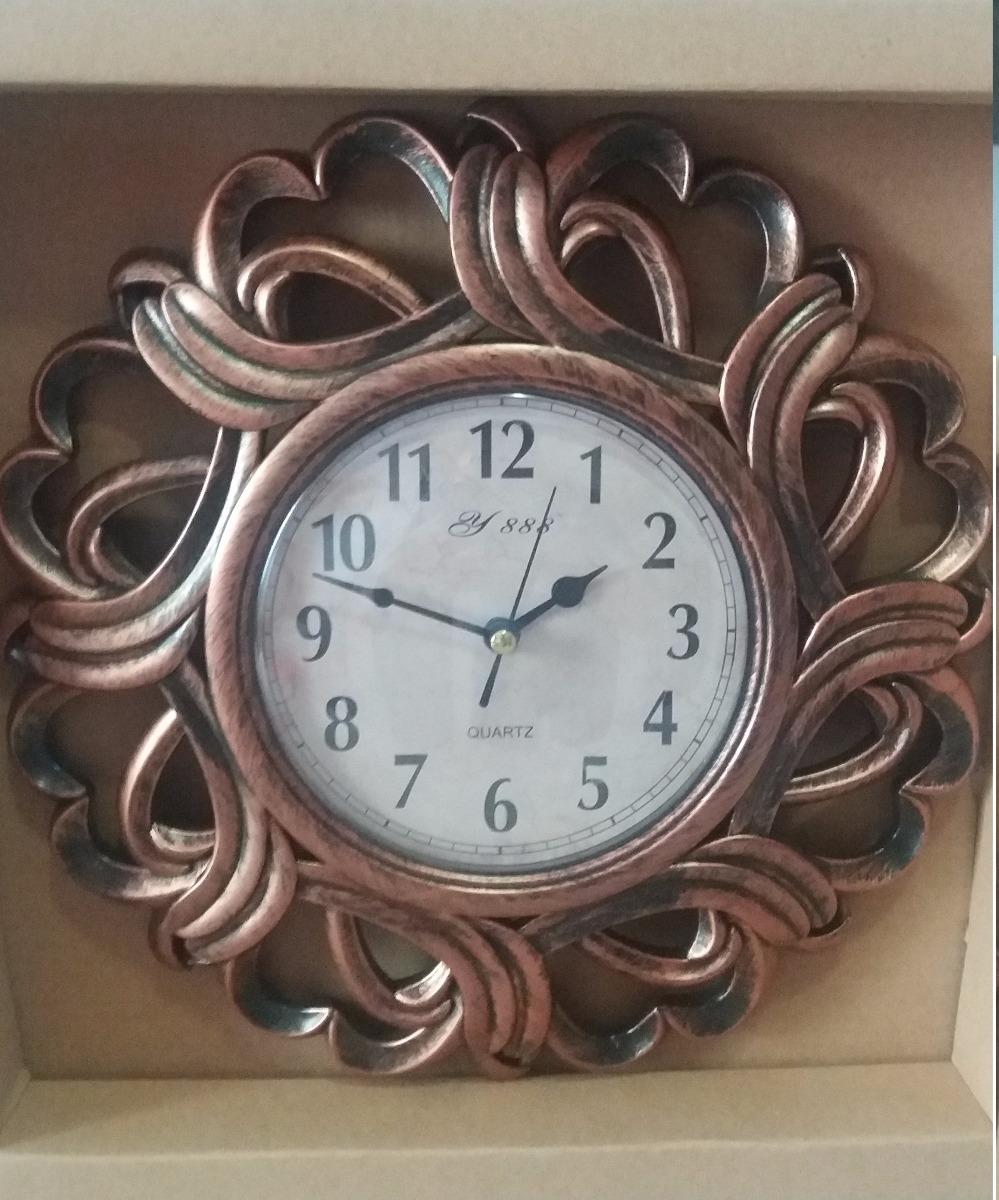 53ab65c3895 Relógio De Parede Estilo Vintage Antigo Bronze Casa Sala - R  22