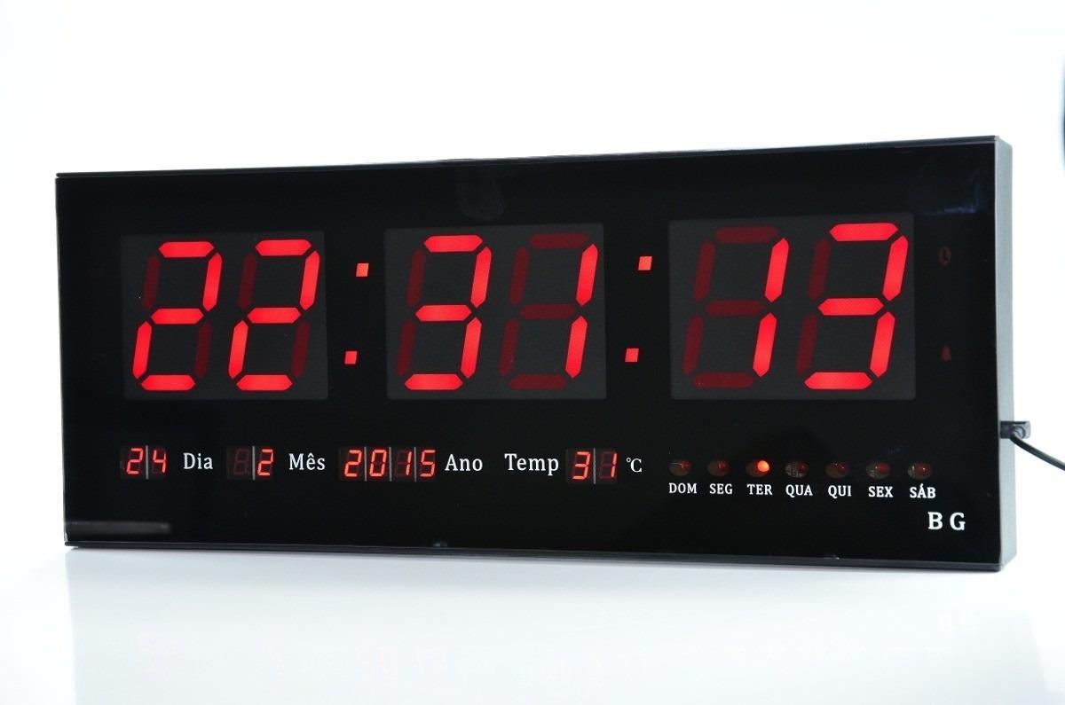 5b4a6aa7236 relógio de parede gigante painel led digital calendário hora. Carregando  zoom.