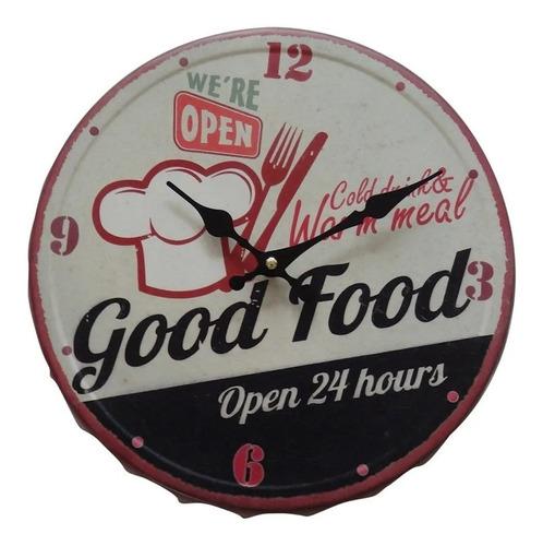 relógio de parede good food3 31cmx31cm ref. mu0085 promoção