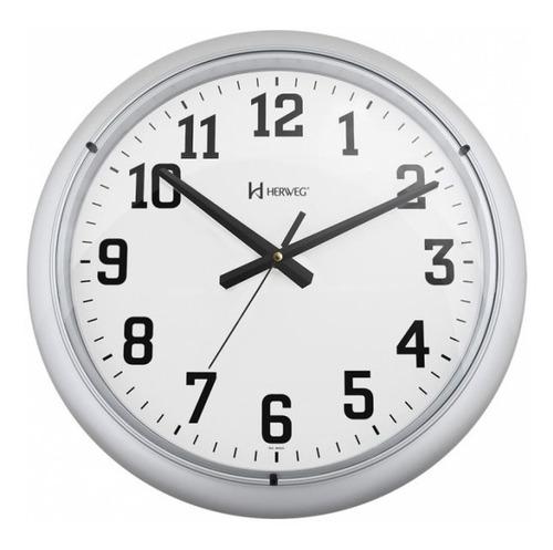 relógio de parede herweg 6129 prata