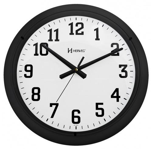 relógio de parede herweg 6129 preto