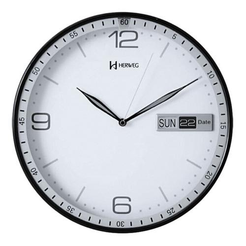 relógio de parede herweg 6415 branco