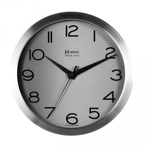 relógio de parede herweg 6714  alumínio