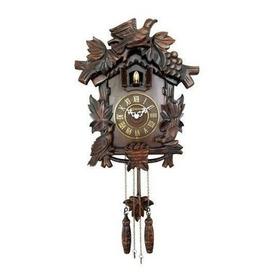 Relógio De Parede Herweg Ref: 530002-084 Cuco Madeira Ipê