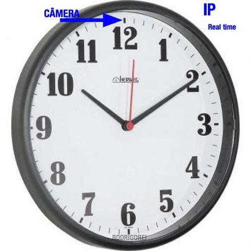 relogio de parede ip espiao real time c/ camera  espionagem