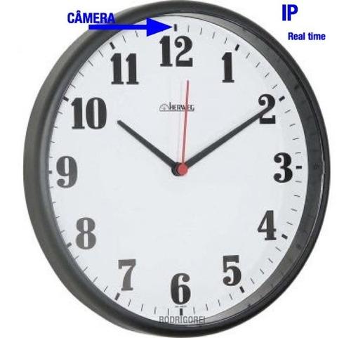 relogio de parede ip espiao real time c/camera grava124 dias