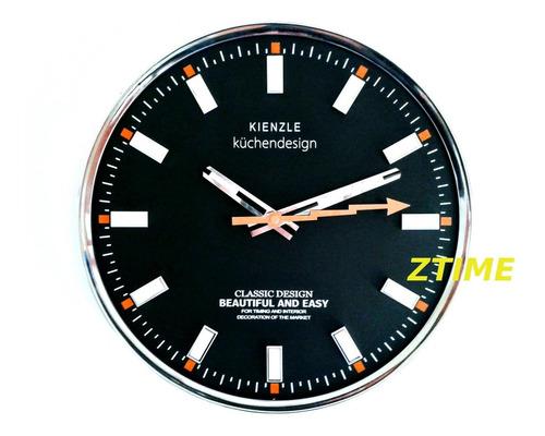 relógio de parede kienzle küchendesign aro de metal 33 cm