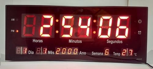 relogio de parede led digital calendário alarme temp 33
