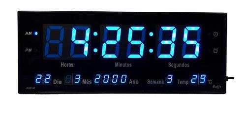 relogio de parede led digital calendário alarme temp oferta