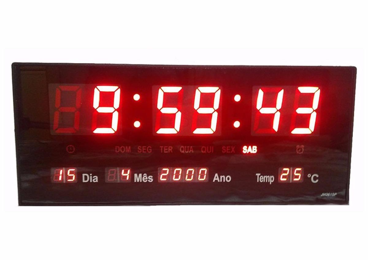 026ab2b0e68 relógio de parede led digital grande termometro recepção m. Carregando zoom.