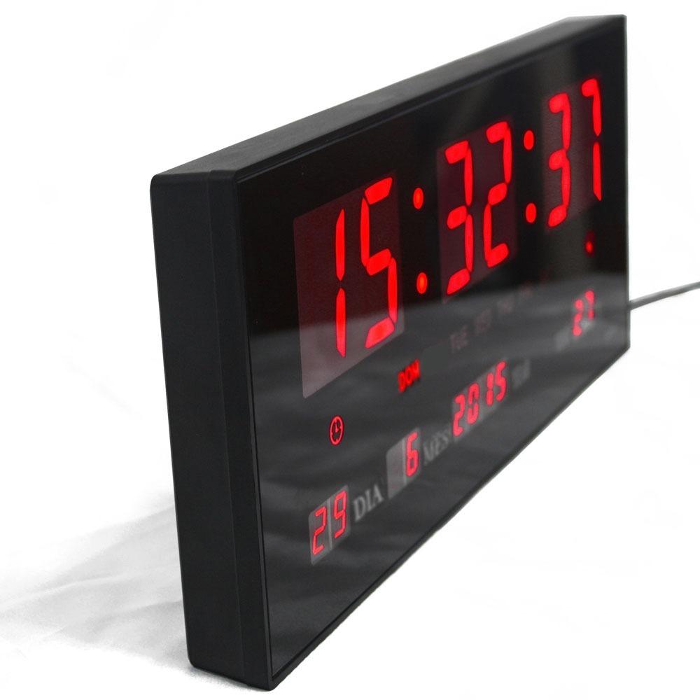 2e98f592040 relógio de parede led digital termômetro alarme calendário. Carregando zoom.