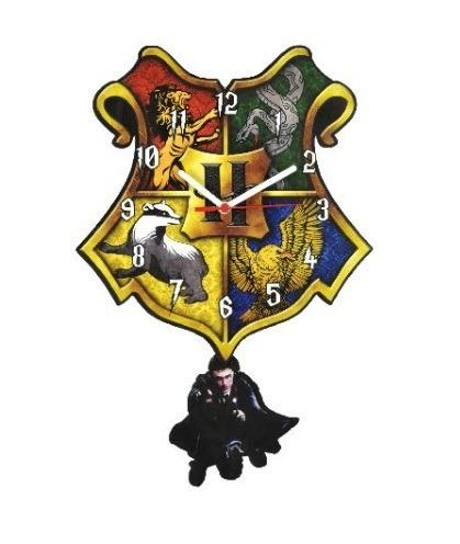 e09cbca6acb Relógio De Parede Mdf C  2 Pêndulo Decoração Harry Potter
