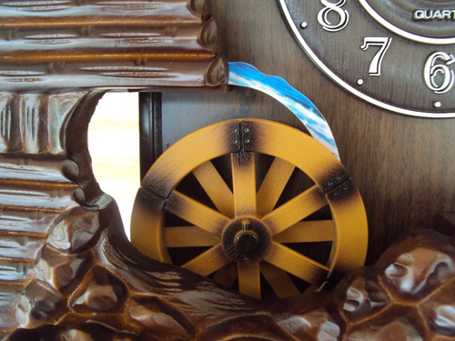 relógio de parede novo cuco musical sx roda d'água 806