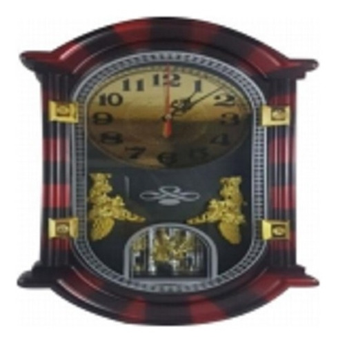 relogio de parede pendulo vintage estilo madeira classico