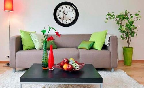 relógio de parede preto p/sala,escritório,casa menor preço